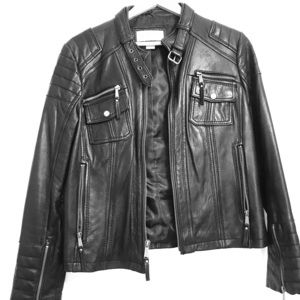 Michael Kors leather jacket. Pristine condition.